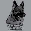 German Shepherd Woodcut