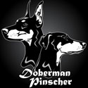Doberman Pinscher Woodcut