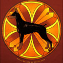 Doberman Pinscher Stained Glass