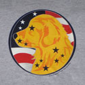 Golden Retriever Circle Head with Flag