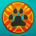Big Stained Glass Paw