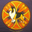 Stained Glass Shetland Sheepdog